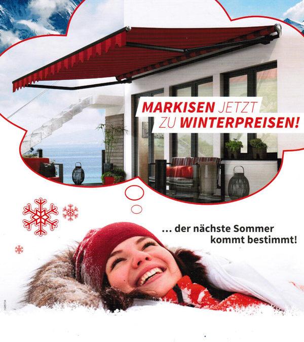 Markisen jetzt zu Winterpreisen!